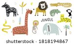 creative jungle and african... | Shutterstock .eps vector #1818194867