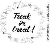 halloween lettering  vector... | Shutterstock .eps vector #1818202367