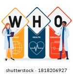 flat design with people. who  ...   Shutterstock .eps vector #1818206927
