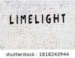 White Brick Wall With...