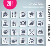 collection of 20 professional... | Shutterstock .eps vector #181824581