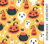 Seamless Pattern For Halloween...