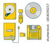 Set Of External Storage Media ...
