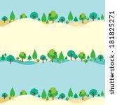 trees on hills natural... | Shutterstock .eps vector #181825271