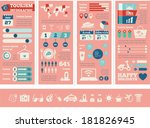 flat infographic elements plus...