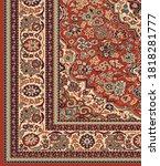 vintage persian design in...   Shutterstock .eps vector #1818281777