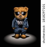 bear toy in fashion and... | Shutterstock .eps vector #1818297101
