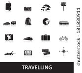 travelling icons eps10 | Shutterstock .eps vector #181830911