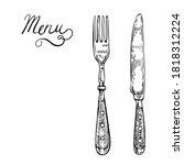 Menu Template With Vintage Fork ...