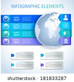 abstract paper business... | Shutterstock .eps vector #181833287