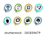 icons of social network over... | Shutterstock .eps vector #181834679