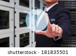 business man touch the graph | Shutterstock . vector #181835501
