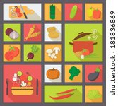 icons set for cooking ... | Shutterstock .eps vector #181836869