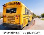Yellow Public School Bus Parked ...
