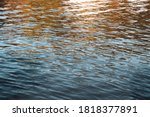 river water texture with dusk... | Shutterstock . vector #1818377891