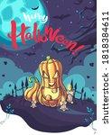 happy halloween vector...   Shutterstock .eps vector #1818384611