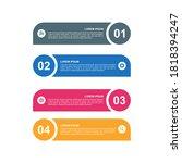 infographic vector 4 steps... | Shutterstock .eps vector #1818394247