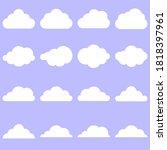 set of flat of white cloud... | Shutterstock .eps vector #1818397961