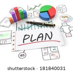 business strategy planning as a ... | Shutterstock . vector #181840031