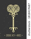 modern magic witchcraft card... | Shutterstock .eps vector #1818419687