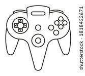 Video Game Controller Line Art...