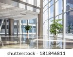 empty hall in the modern office ... | Shutterstock . vector #181846811