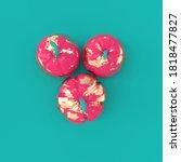 3d render pumpkin on green... | Shutterstock . vector #1818477827