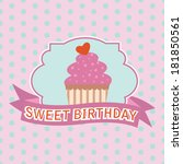 background with cupcake | Shutterstock .eps vector #181850561