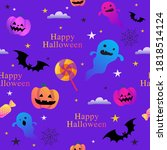 halloween colorful cute funny...   Shutterstock .eps vector #1818514124