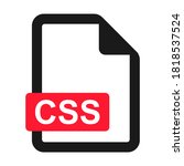 file css flat icon isolated on...