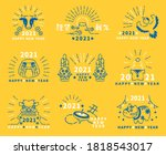 2021 new year material.   the... | Shutterstock .eps vector #1818543017