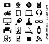 flat icons set of media ... | Shutterstock .eps vector #181854395