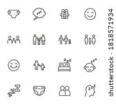 vector line icons collection of ... | Shutterstock .eps vector #1818571934