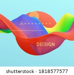 abstract design of sun and wave.... | Shutterstock .eps vector #1818577577