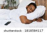 Fast Asleep Black Man Sleeping...