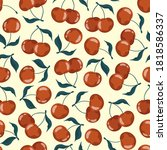 Seamless Pattern With Cherries...