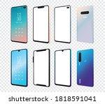 set of mockup smartphones... | Shutterstock .eps vector #1818591041