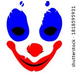 Evil Scary Smiling Clown Face   ...