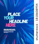 poster layout design with... | Shutterstock .eps vector #1818608954