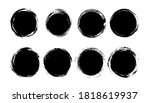 vector grunge circle set. story ... | Shutterstock .eps vector #1818619937