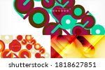 set of abstract backgrounds for ... | Shutterstock .eps vector #1818627851