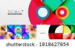 collection of stylish geometric ... | Shutterstock .eps vector #1818627854