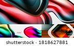 set of various geometric... | Shutterstock .eps vector #1818627881