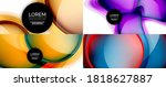 glass fluid shapes abstract... | Shutterstock .eps vector #1818627887