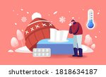 male character with cold... | Shutterstock .eps vector #1818634187