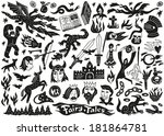 fairy tales   doodles | Shutterstock .eps vector #181864781