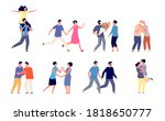 different couples in love.... | Shutterstock .eps vector #1818650777