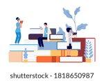 medical school students.... | Shutterstock .eps vector #1818650987