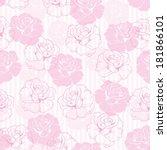 seamless retro vector floral... | Shutterstock .eps vector #181866101