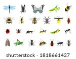 cute insects collection.... | Shutterstock .eps vector #1818661427